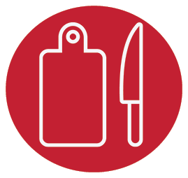 Icon ServSafe 3 Red background
